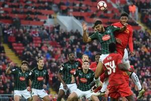 Liverpool kwam tegen Plymouth Argyle niet verder dan een doelpuntloos gelijkspel. © AFP