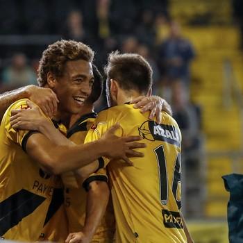 NAC Breda heeft de score geopend. © Hollandse Hoogte