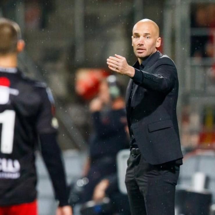 Excelsior-trainer Mitchell van der Gaag. © Hollandse Hoogte