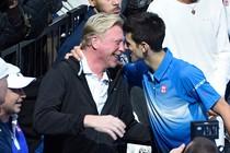 Boris Becker en Novak Djokovic © EPA